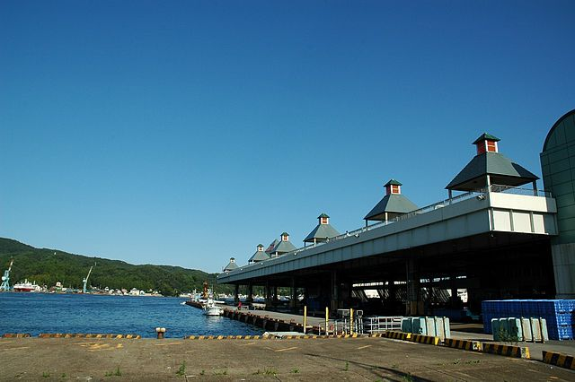 Kesennuma Fishing Port in 2006. Via Wikimedia Commons.