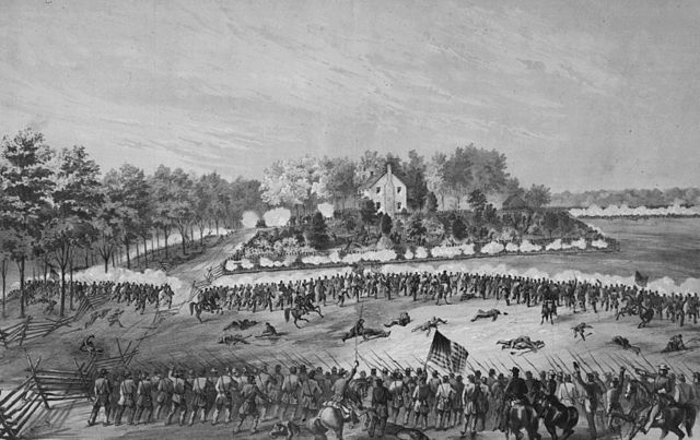 The Battle of Jackson, fought on May 14, 1863, was part of the Vicksburg Campaign. Via Wikimedia Commons.