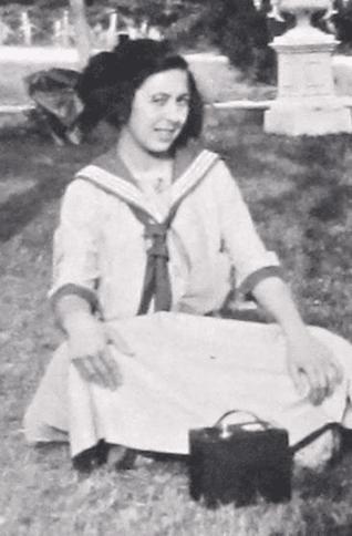 Young Blanche in her school uniform, n.d., n.p.