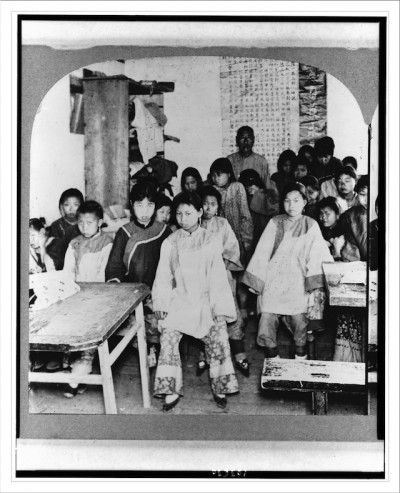 A Chinese school for girls Che-foo China c. 1902