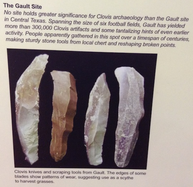 Clovis Artifacts from Gault Site, Central TX.