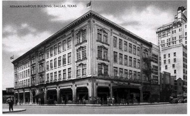 Neiman Marcus building from a postcard circa 1920