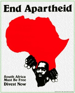 Inkworks Press Anti-apartheid poster (1985).
