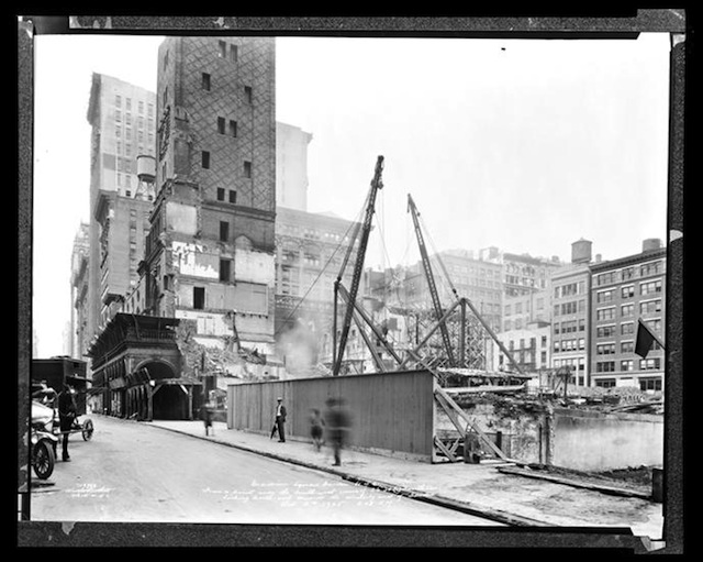 Image of the destroyed Madison Square Gardens. Via Museum of the City of New York
