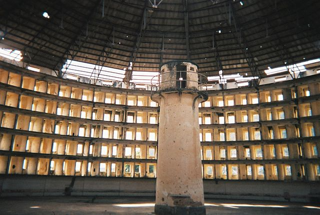 Presidio Modelo prison in Cuba, an example of a Panopticon penitentiary.