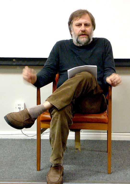 Slavoj Zizek in Liverpool, 2008. Via Wikipedia.