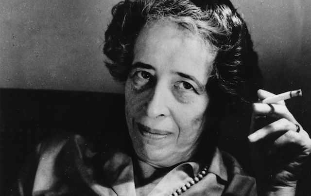Hannah Arendt. Via The Nation.