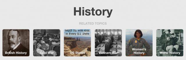 pinterest history