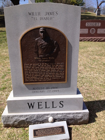 "Headstone of Willie ""El Diablo"" James at Texas State Cemetery. Photo courtesy of the author."