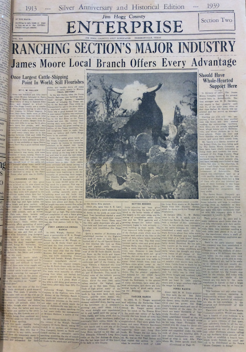 Jim Hogg County Enterprise (Hebbronville, TX), March 9, 1939.