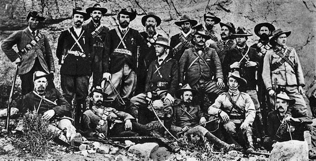 Jan Smuts and Boer guerrillas during the Second Boer War, ca. 1901. Via Wikipedia.