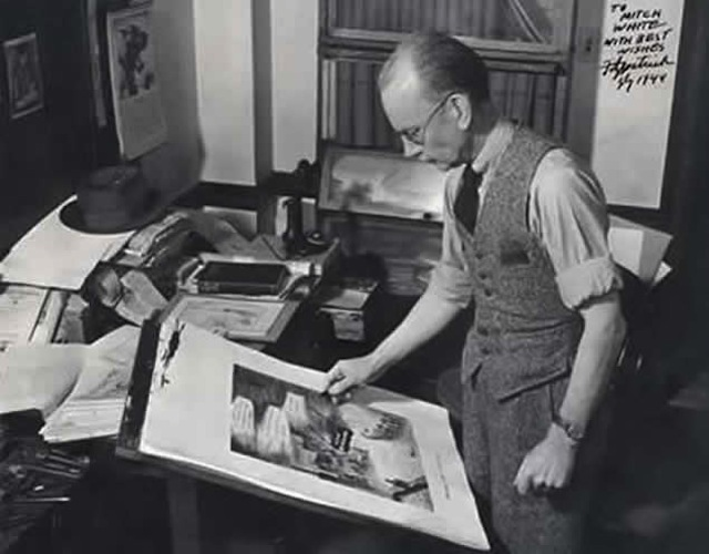 Daniel Robert Fitzpatrick at work. Courtesy of The State Historical Society of Missouri, Photograph Collection.