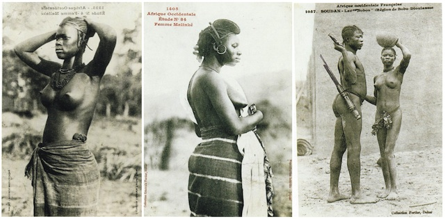 Edmond Fortier photographs of Malinké Women taken in West Africa, 1906. The images are held in the Picasso Archives, Musée Picasso, Paris.