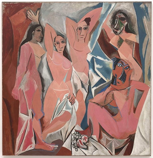 Les Demoiselles d'Avignon (1907) by Pablo Picasso. Courtesy of Art Resource, NY.