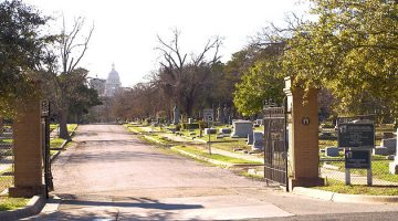 The Old Oakwood Cemetery Austin, Texas, United States. Via Wikipedia.