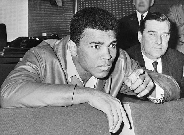Muhammad Ali in 1966. Via Wikipedia.