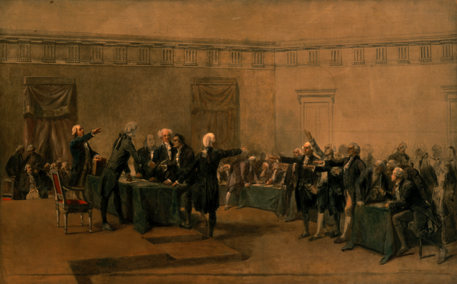 The Declaration of Independence of the United States of America, by Armand-Dumaresq, (c. 1873). Via Wikimedia Commons.