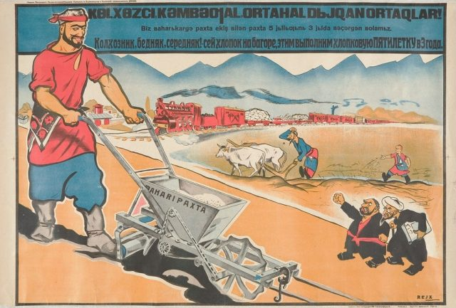 urging_peasants_to_speed_up_cotton_production_-_russian_and_uzbek_tashkent_1920s_mardjani