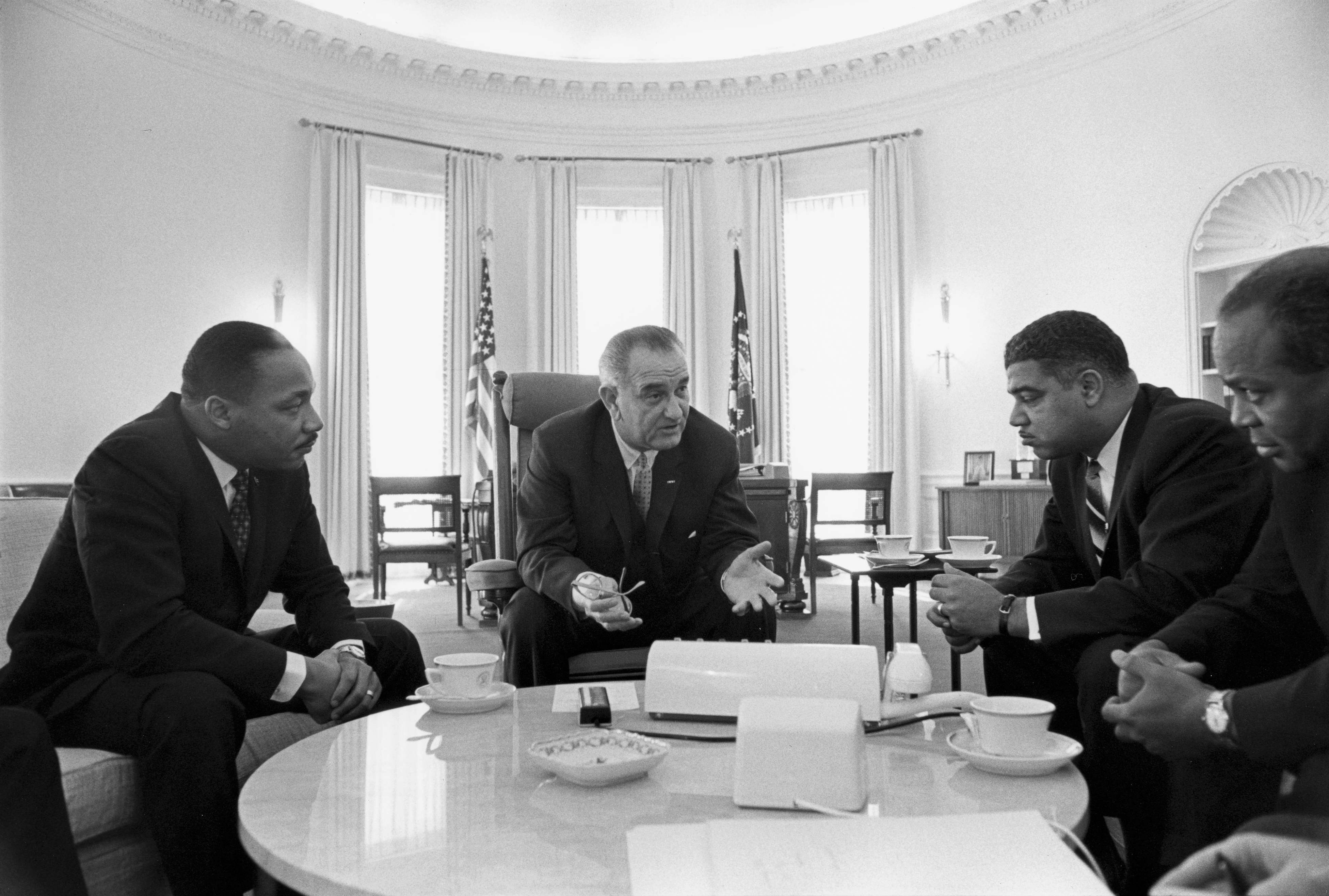 History Calling LBJ and Thurgood Marshall on the Telephone Not