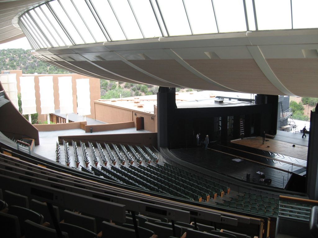View of the stage at the Sante Fe Opera House