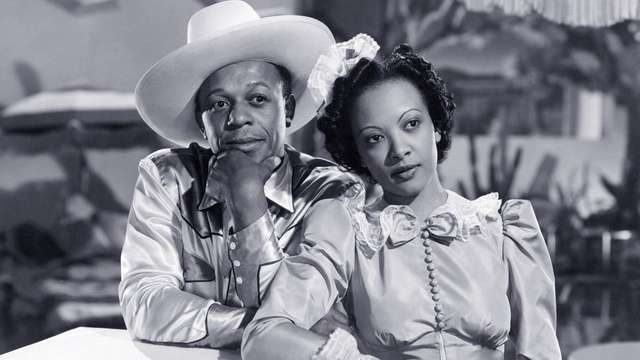 Eddie Anderson and Theresa Harris in Buck Benny Rides Again