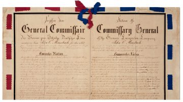 An image of the Meusebach-Comanche Treaty of 1847