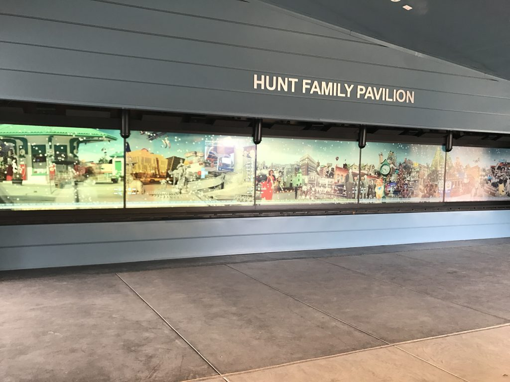 A photograph of five of the screens of El Paso Museum of History's interactive displays