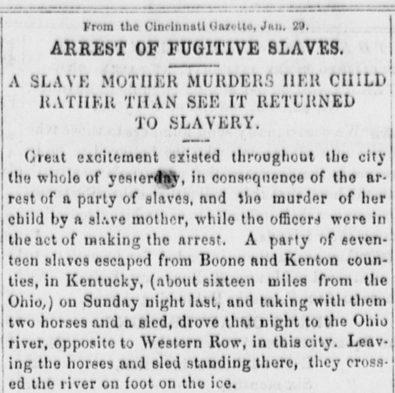Driven Toward Madness: The Fugitive Slave Margaret Garner and