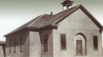 The earlier known photograph of the Blackwell School in Marfa, Texas
