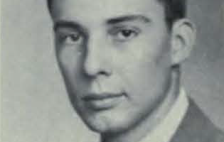 Black and white photograph of a headshot of Tom Ward