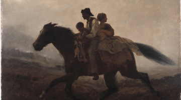 Image of the painting A Ride for Liberty by Eastman Johnson from the Brooklyn Museum