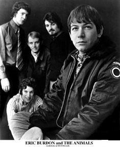 Eric Burdon & the Animals in 1967. Foreground: Eric Burdon Background (L–R): Danny McCulloch, John Weider (in striped shirt), Vic Briggs and Barry Jenkins