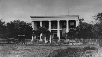 Black and white image of the Neill-Cochran House