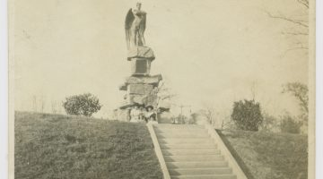 Five Women Posing near the Spirit of the Confederacy Statue, Houston, Texas (1908) via SMU Libraries Digital Collections