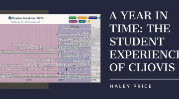 A Year in Time: The Student Experience of ClioVis