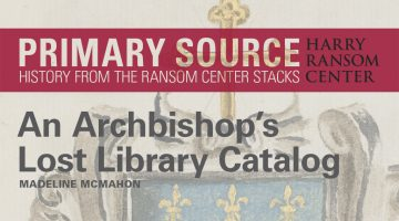 Primary Source: An Archbishop's Lost Library Catalog Header Image