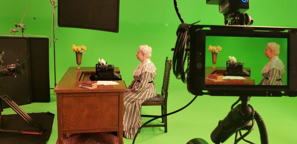 Actress Angela Smith portrays Carrie Chapman Catt in Citizens at Last. Source: Nancy Schiesari