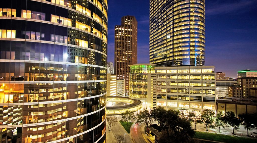 The Enron Complex in Downtown Houston