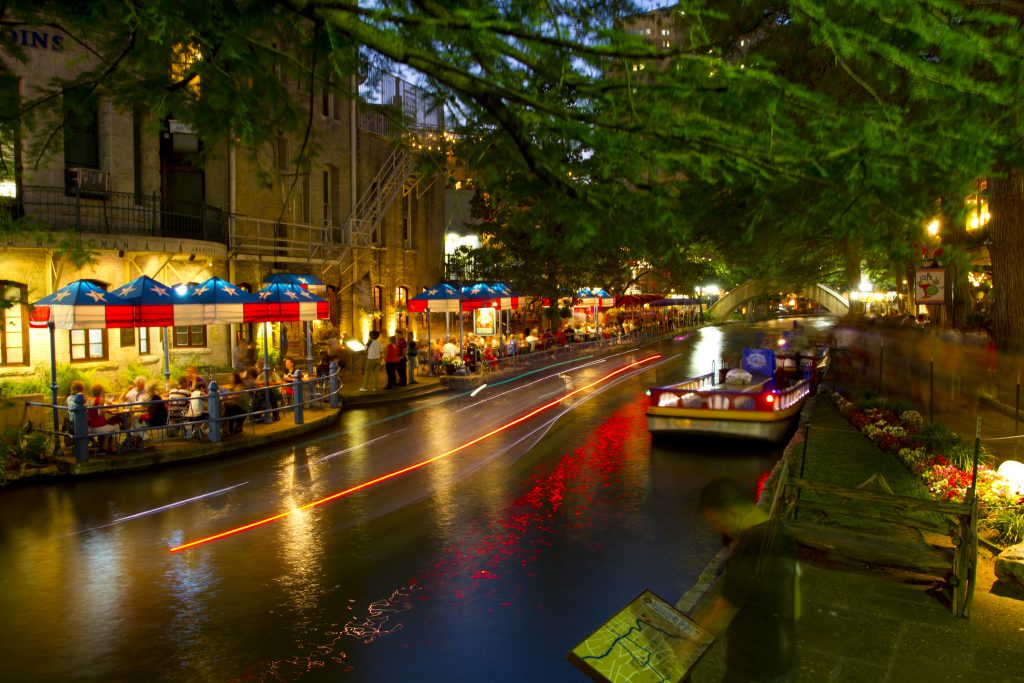 San Antonio Riverwalk in the evening