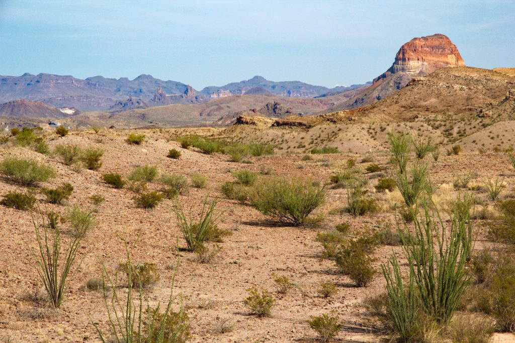 Chihuahuan desert and Chisos mountains in West Texas
