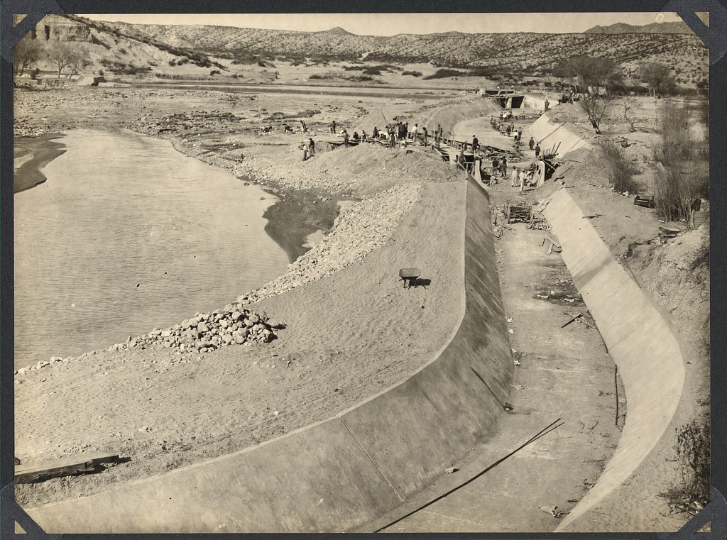 Construction of Franklin Canal