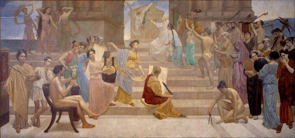 Apoteosis de la paz by Alberto Fuster, 1903; oil on canvas