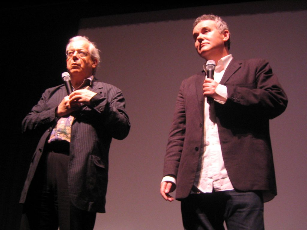 Adam Curtis (right) with David Thomson answers questions