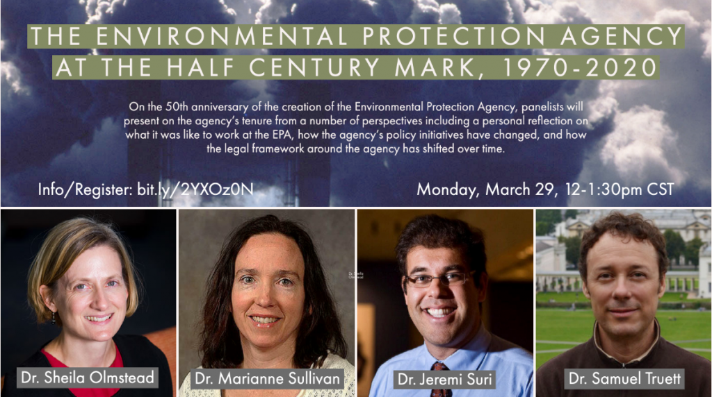 """IHS Panel: """"The Environmental Protection Agency at the Half Century Mark, 1970-2020"""""""