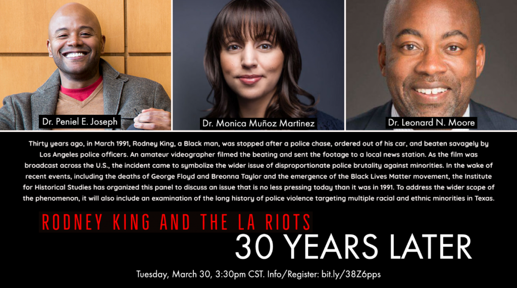 "IHS Panel: ""Rodney King and the LA Riots: 30 Years Later"""