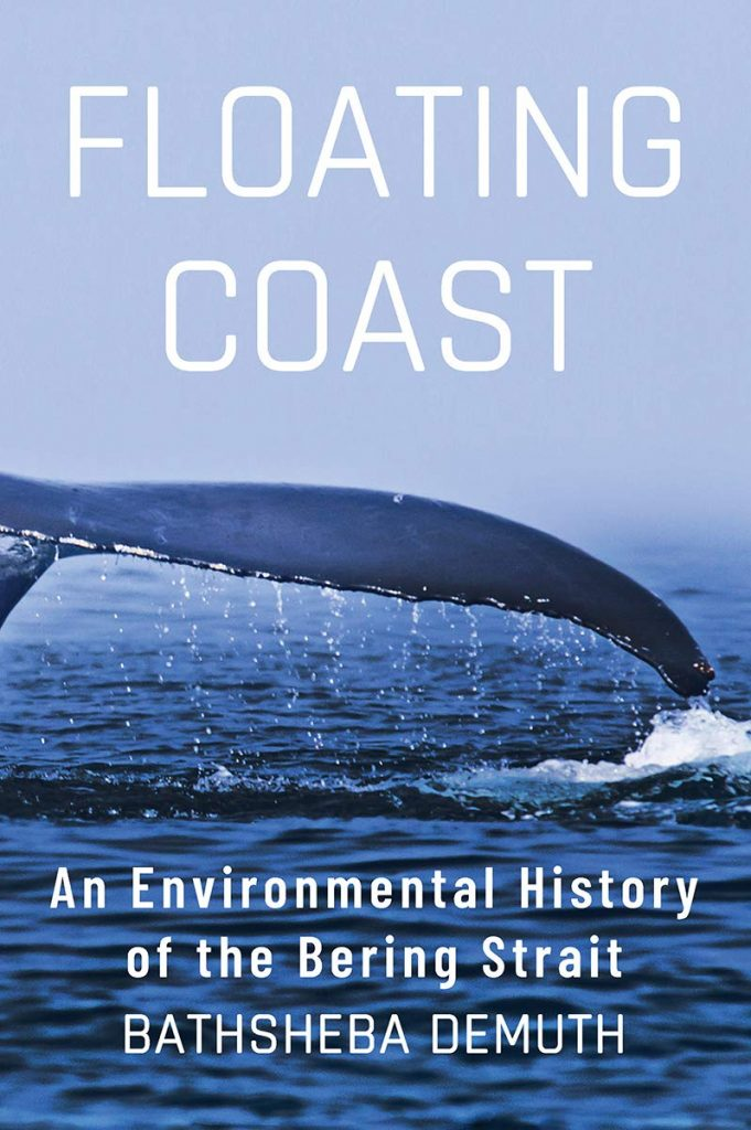 Cover of the Floating Coast, features whale's tail above the water