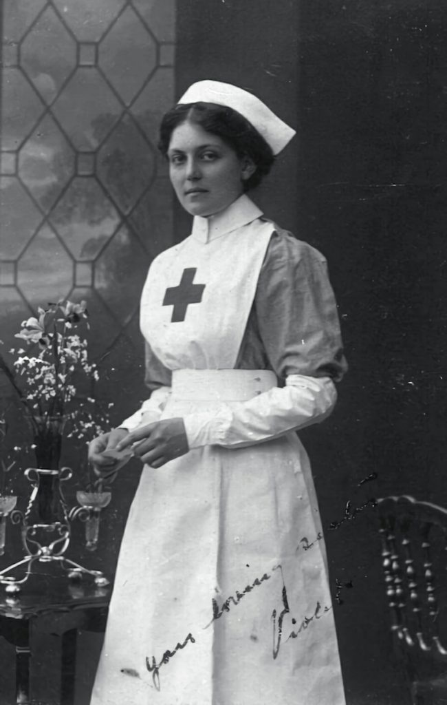 Violet Jessop as part of the Voluntary Aid Detachment of HMHS Britannic