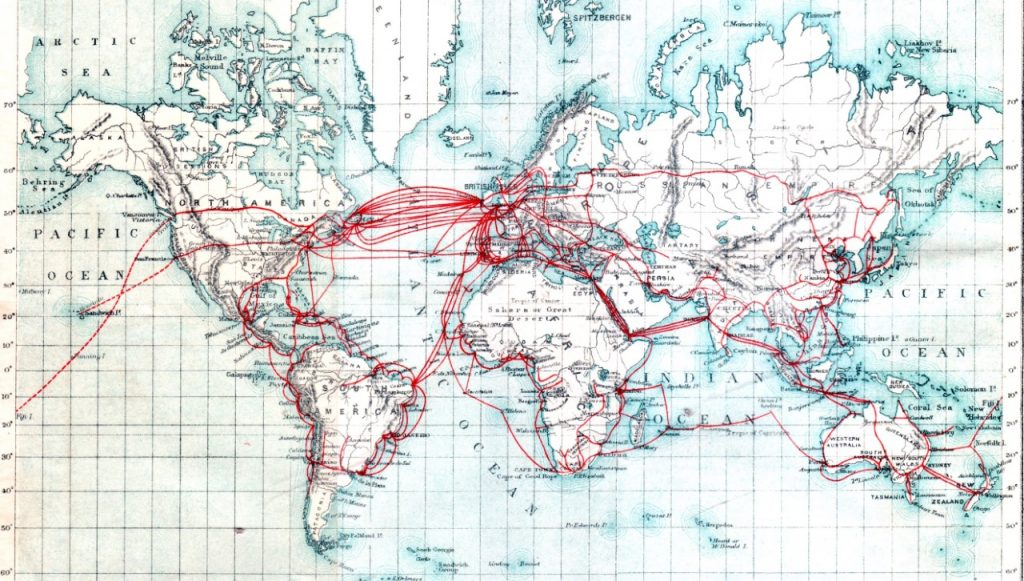 World cable map from 1901
