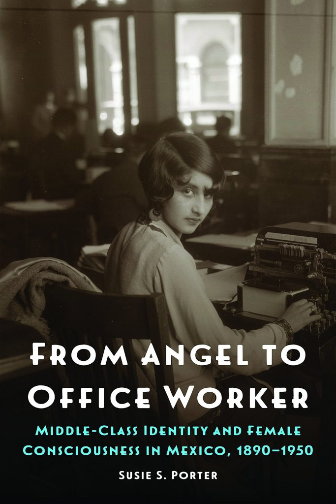 From Angel to Office Worker cover features a woman with a 1920s bob sitting at a typewriter.