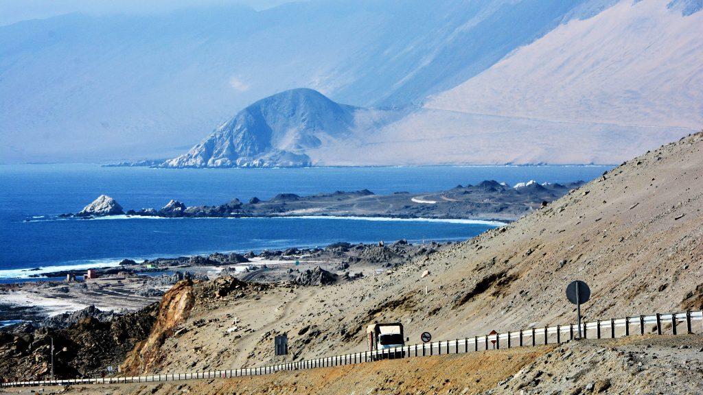 Chilean coastline in Tarapacá